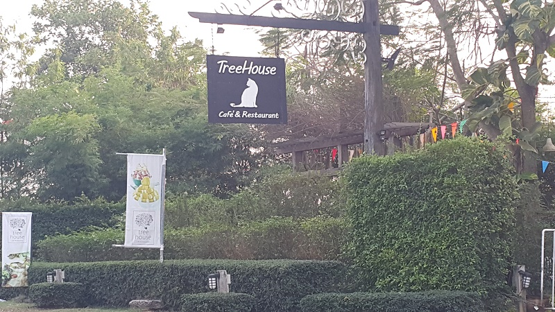 Front View of Tree House Sign