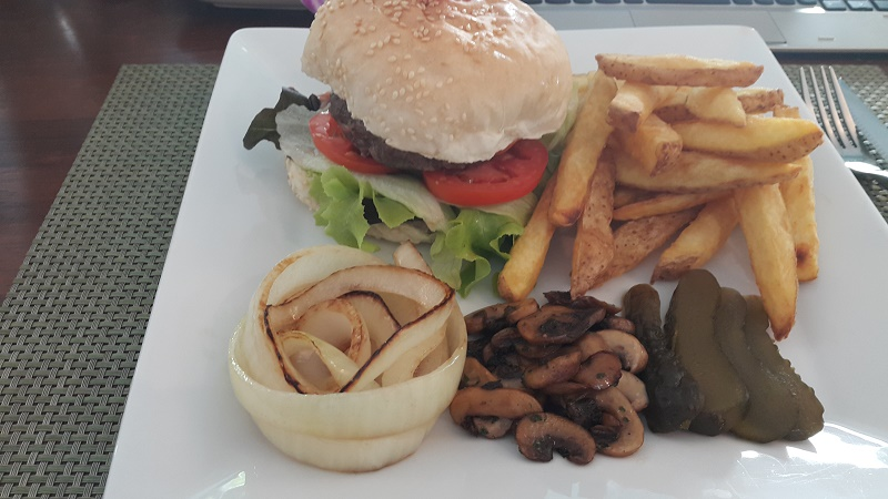 A good Burger, Hand made Chips, and sides