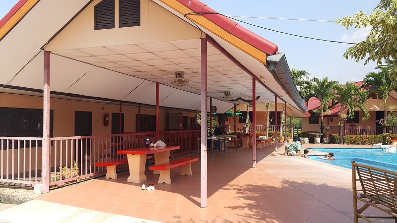Canopy over Outside Seating