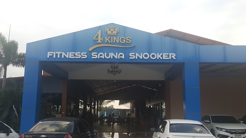 4 Kings Sauna Front Sign and Entrance