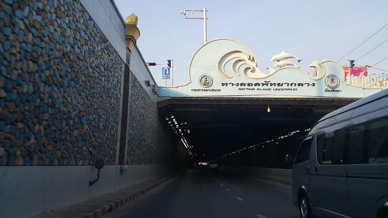 Driving into the New Pattaya Klang Underpass