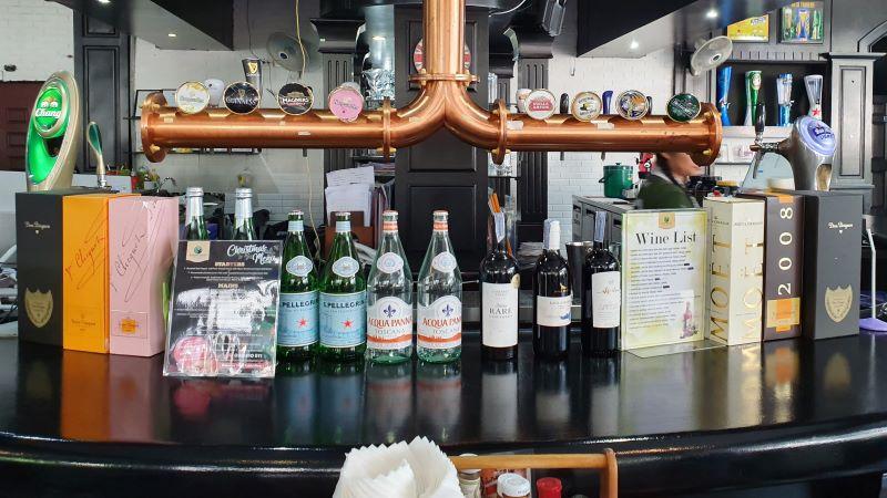 Draft Beer Taps at The Robin Hood Tavern, Pattaya